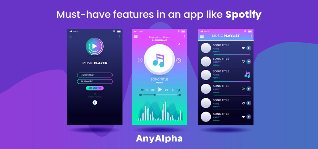 Must-Have Features in An App like Spotify