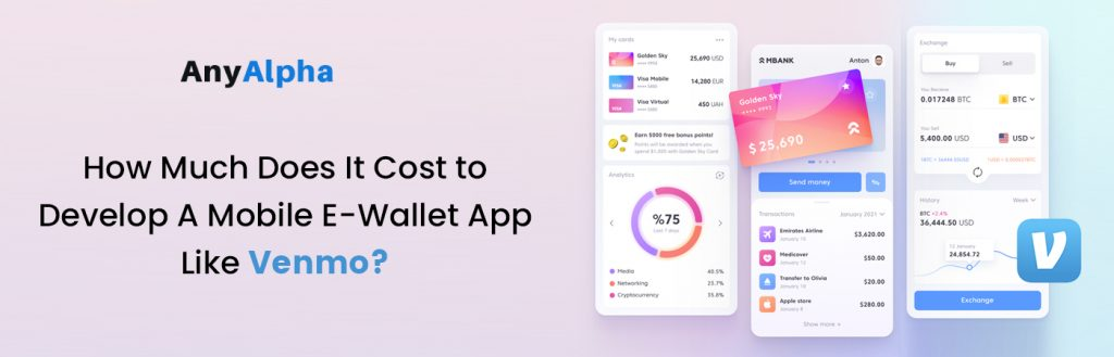 How Much Does It Cost to Develop A Mobile E-Wallet App Like Venmo?